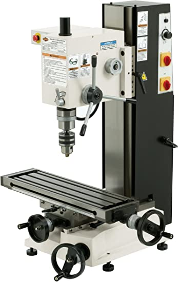 9. SHOP FOX M1110 6-Inch by 21-Inch Variable Speed Mill and Drill