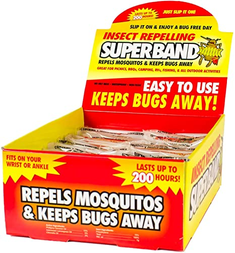 5. Evergreen Research SB39001 Insect Repelling SuperBand, Box of 50