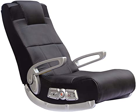10. X Rocker II SE 2.1 Black Leather Floor Video Gaming Chair