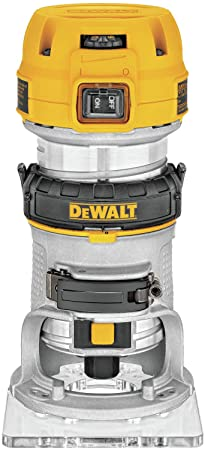 4. DEWALT Router, Fixed Base, Variable Speed, 1-1/4-HP Max Torque (DWP611)