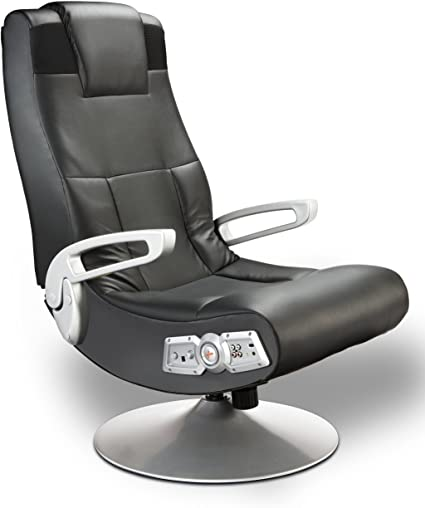 1. X Rocker SE 2.1 Black Leather Video Gaming Chair
