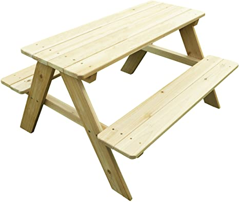 3. Merry Garden Kids Wooden Picnic Bench Outdoor Patio Dining Table