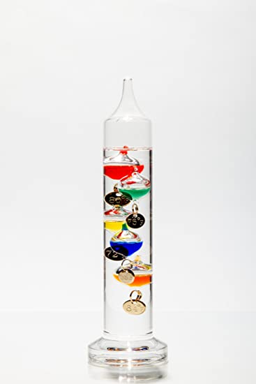 6. Glassic Gifts Galileo Thermometer (7