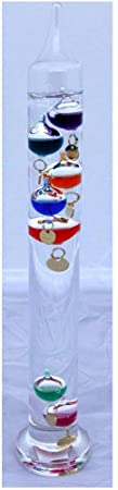 10. Thorness 30cm Tall Free Standing Galileo Thermometer