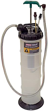 2. OEMTOOLS 24397 9.5 Liter Oil Extractor, Oil, Transmission, Coolant Change Tool, Easy-to-Use Hand Pump