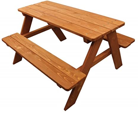 2. Home Wear Children's Wood Picnic Table, Red Wood