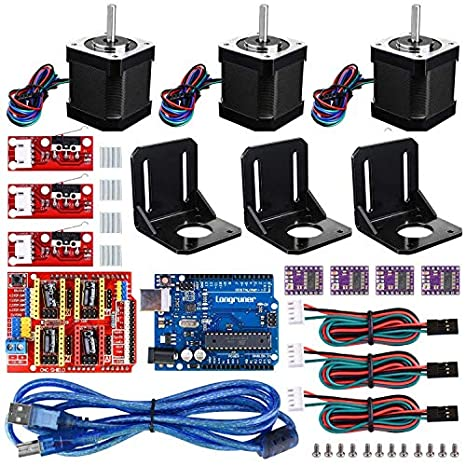 1. 3D Printer CNC Controller Kit with for ArduinoIDE, Longruner GRBL CNC Shield Board+RAMPS 1.4