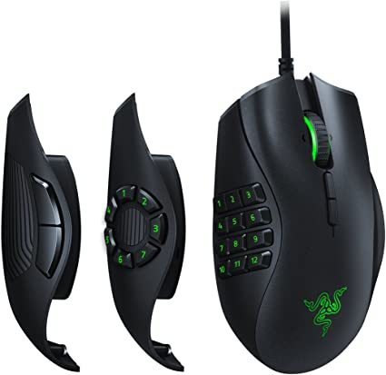 1. Razer Naga Trinity Gaming Mouse: 16,000 DPI Optical Sensor - Chroma RGB Lighting