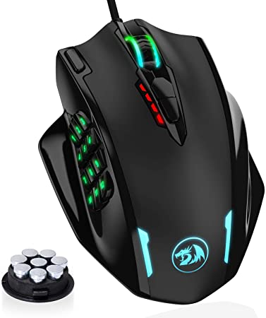 2. Redragon M908 Impact RGB LED MMO Mouse with Side Buttons Optical Wired Gaming Mouse