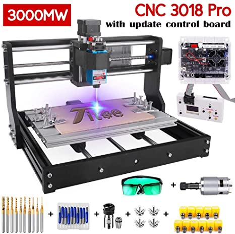 8. Upgrade Version 2 in 1 3000mW Engraver CNC 3018 Pro GRBL Control DIY Mini CNC Machine, 3 Axis Wood Router Engraver