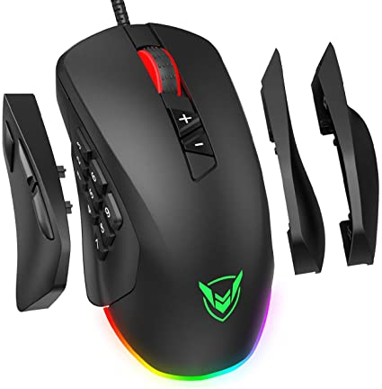 4. PICTEK Gaming Mouse Wired 24,000 DPI RGB Gaming Mice with 17-Programmable-Buttons