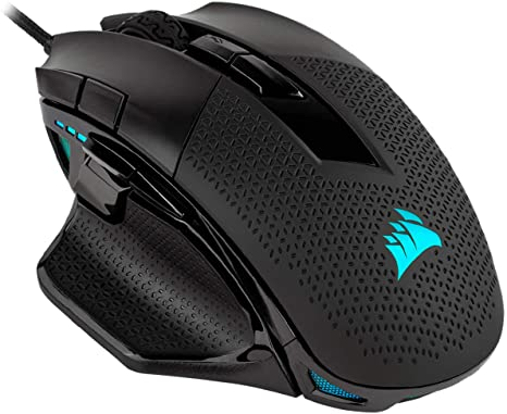 5. Corsair Nightsword RGB - Comfort Performance Tunable FPS/MOBA Optical Ergonomic Gaming Mouse