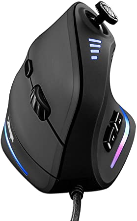 6. Gaming Mouse with 5 D Rocker, TRELC Ergonomic Mouse with 10000 DPI/11 Programmable Buttons, RGB Vertical Gaming Mice