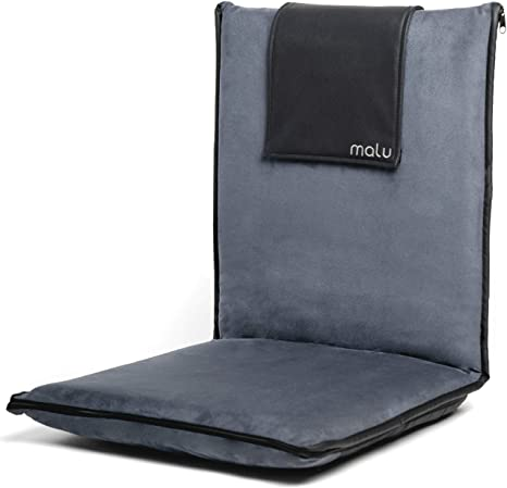 9. Malu Luxury Padded Floor Chair with Back Support
