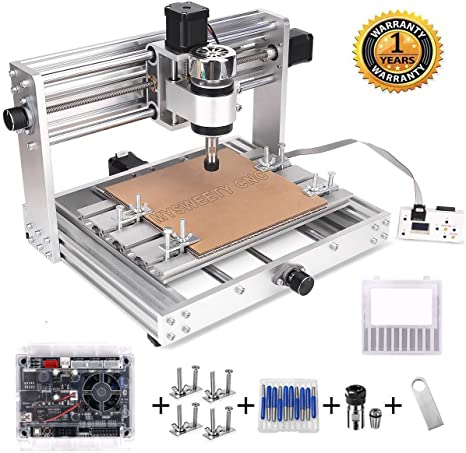 5. MYSWEETY CNC 3018Pro MAX Engraver with 200W Spindle, GRBL control DIY CNC machine, 3 Axis Pcb Milling Machine