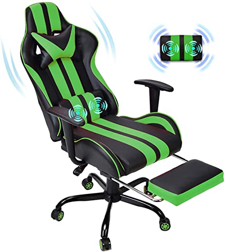 8. E-Sports Chair, Massage Gaming Chair