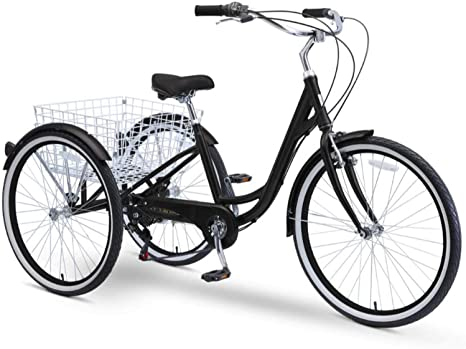 4. sixthreezero Body Ease 26 Inch 7-Speed Adult Tricycle with Rear Basket