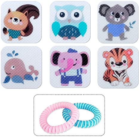 9. 120 Pcs Patch, Resealable Stickers with 2 Bracelet- for Family Kids, Adults & Pets, 100% Natural Materials