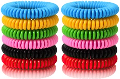 2. Reusable Bracelet 24 Pack, Natural and Waterproof Wrist Bands for Adults, Kids, Pets-Nature Citronella, Lemongrass and Eucalyptus