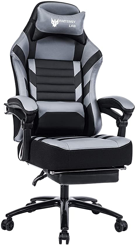 6. FANTASYLAB High Back Massage Memory Foam Reclining Gaming Chair