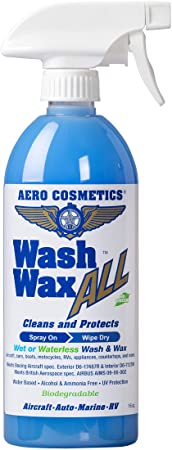 4. Wet or Waterless Car Wash Wax 16 oz. Aircraft Quality Wash Wax for your Car RV & Boat