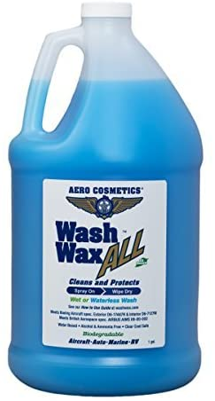 6. Wet or Waterless Car Wash Wax 128 Ounces. Aircraft Quality for Your Car, RV, Boat, Motorcycle