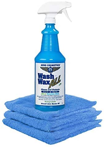 9. Wet or Waterless Car Wash Wax Kit 32 Ounces. Aircraft Quality for Your Car, RV, Boat, Motorcycle