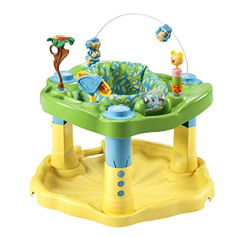3. Evenflo Exersaucer Bounce & Learn, Zoo Friends