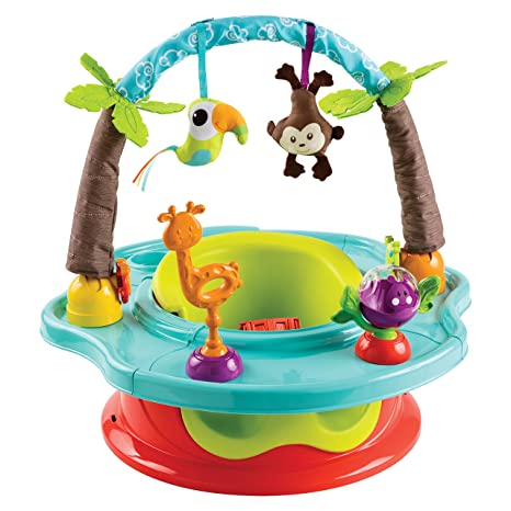 9. Summer 3-Stage SuperSeat Deluxe Giggles Island Positioner, Booster and Activity Seat for Girl
