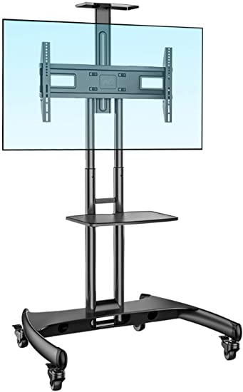 9. NB North Bayou Mobile TV Cart TV Stand with Wheels
