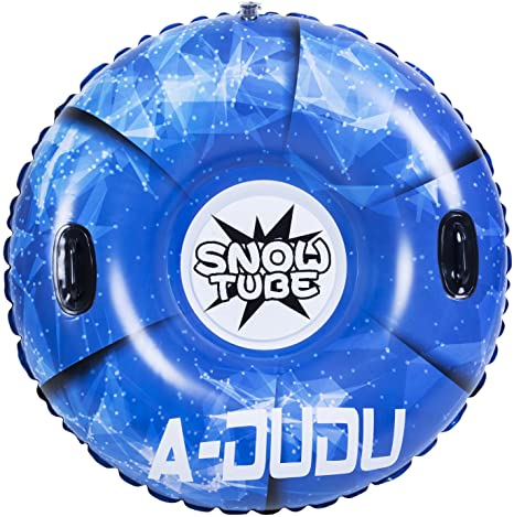 10. A-DUDU Snow Tube - Super Big 47 Inch Inflatable Snow Sled for Kids and Adults