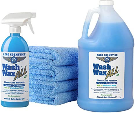 3. Wet or Waterless Car Wash Wax Kit 144 Ounces. Aircraft Quality for Your Car, RV, Boat, Motorcycle