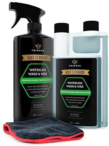 8. TriNova Waterless Car Wash and Wax Kit - Bug Remover - Clean and Protect Paint of Truck, SUV, Boat, RV or Vehicle