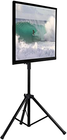 3. Mount-It! TV Tripod Floor Stand | Portable Tilting TV Stand for 32-70 Inch Flat Screen Displays
