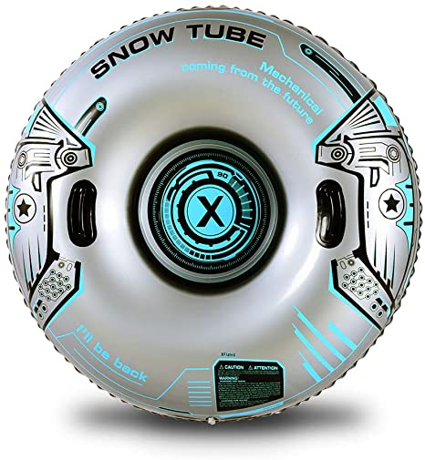 3. XFlated Snow Tube, Heavy Duty Inflatable Snow Tube Sled for Kids and Adults, Giant Snow Toys