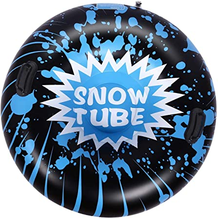 9. Brace Master Snow Tube - 47 Inch Inflatable Heavy Duty Snow Sled Tube 6mm Thickness Material