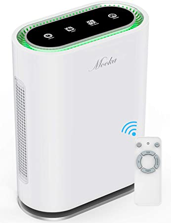 9. MOOKA True HEPA+ Air Purifier, Large Room to 540ft², 6-Point Filtration, Odor Eliminator for Allergies and Pets