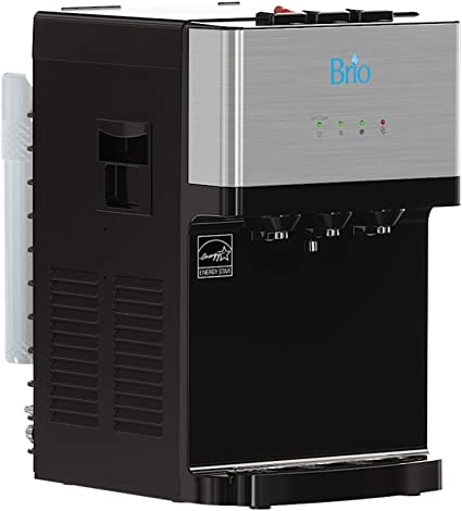 5. Brio Countertop Self Cleaning Bottleless Water Cooler Dispenser with Filtration