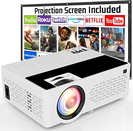 8. TMY Projector with 100 Inch Projector Screen