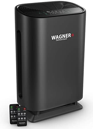 4. WAGNER Switzerland Air Purifier WA888 HEPA-13 Medical Grade Filter, Particle Sensor for 500 sq.ft. Rooms