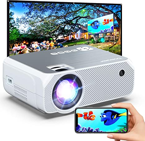 4. Bomaker Portable Projector for Outdoor Movies
