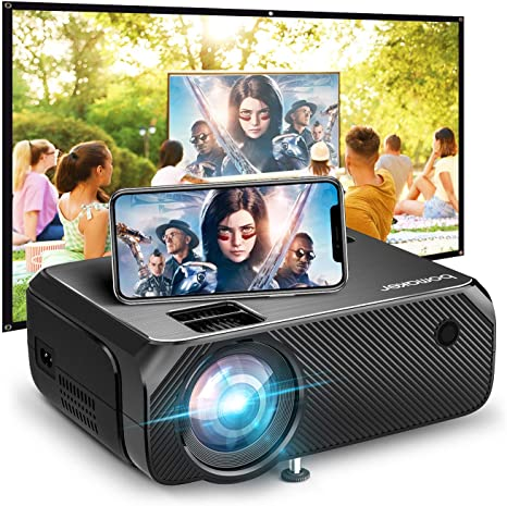 1. Bomaker Portable Projector for Outdoor Movies