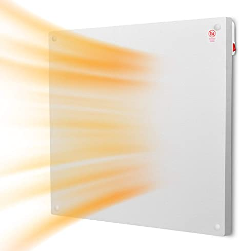 7. Heater Panel - Wall Mount Heater with Overheating Auto Cut-off, Up to 200 Sq Ft Coverage, Crack Resistant