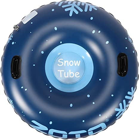 4. ZOTO Snow Tube, Super Heavy Duty 47 Inch and 0.6mm Thickening Inflatable Snow Tube Sled