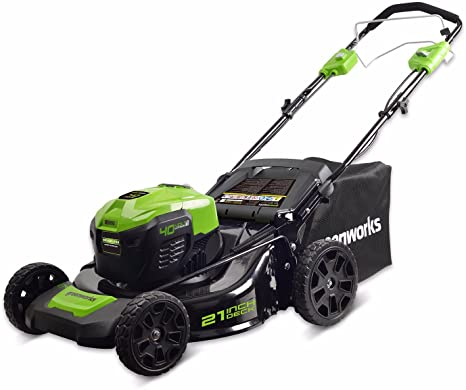 2. Greenworks 21-Inch 40V Self-Propelled Cordless Lawn Mower, Battery Not Included MO40L02