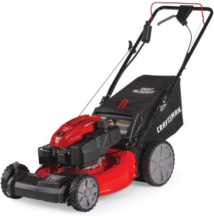 1. Craftsman M275 159cc 21-Inch 3-in-1 High-Wheeled Self-Propelled FWD Gas Powered Lawn Mower, with Bagger