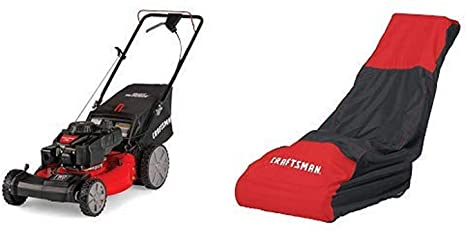 5. Craftsman M215 159cc 21-Inch 3-in-1 High-Wheeled FWD Self-Propelled Gas Powered Lawn Mower with Bagger and Lawn Mower Cover