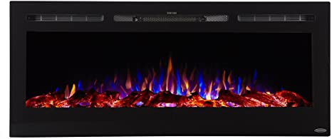 3. Touchstone Sideline Recessed Mounted Electric Fireplaces