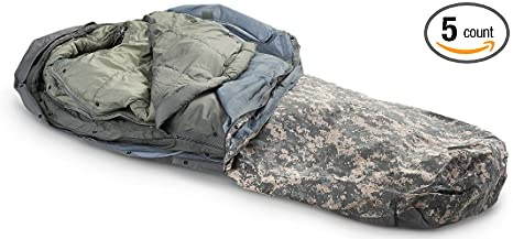 10. Military Outdoor Clothing Previously Issued U.S. G.I. Improved ACU Digital Modular Sleeping Bag System (5-Piece)
