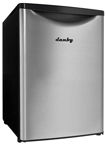 7. Danby DAR026A2BSLDB 2.6 Cu.Ft. Mini, Stainless Steel Look, Free-Standing All Fridge for Bedroom, Living Room, Kitchen, Dorm, Silver